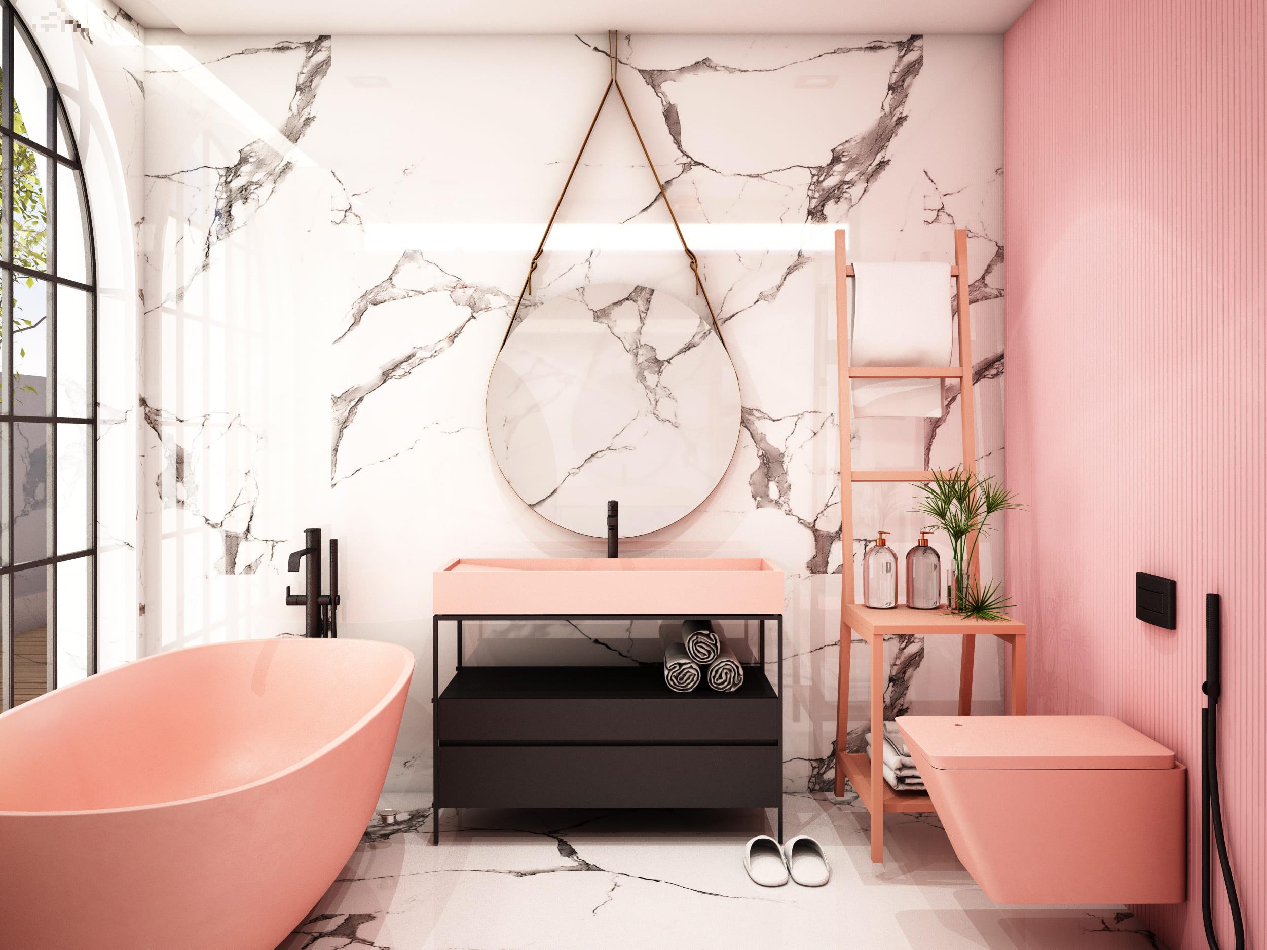 Arredo Bagno Romagna bianco, addio: la nuova tendenza dei bagni colorati